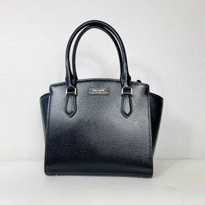 Kate Spade Jeanne Leather Satchel Small Black